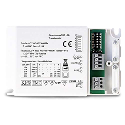 Isolicht LED Driver 'MULTI' 12V/24V / 350mA/500mA/700mA, dimmbar