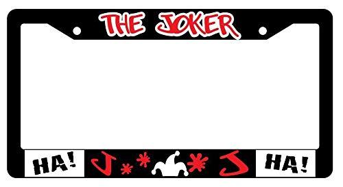 Yohoba The Joker Black Plastic License Plate Frame