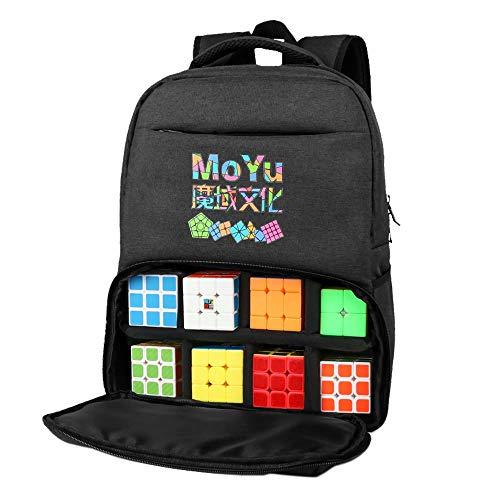 OJIN MoYu Estuche portátil Bolsa de Almacenamiento Bolso portátil Mochila de Equipo Bolsa de Viaje Cubo mágico Moyu Cubing Bag - Gris Oscuro