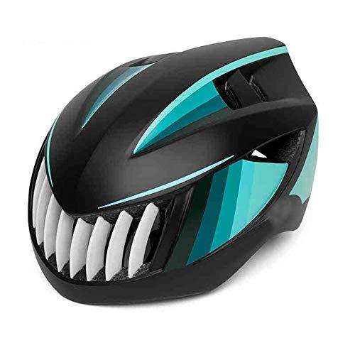 HKRSTSXJ Montar en Bicicleta de montaña Casco Safety Integrated Molding Sombrero Bici del Camino de Hombres y Mujeres Transpirable a Prueba de Golpes Moda Desmontable Forrado Casco (Color : Verde)