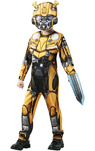 Rubie's Officiële Transformers Bumblebee The Movie Kostuum Deluxe Hummelfiguur