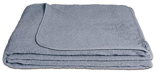 KiGATEX Frotteedecke Sommerdecke softig weich 100% Baumwolle 150x200 cm Öko-Tex Zertifiziert (grau)