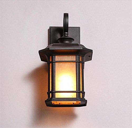 Atmko®Applique Murale Vintage Industriel Appliques Applique Mur Applique Chambre Couloir Couloir Lampe De Verre En Aluminium Corps 1 La Lumière