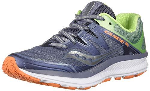 Saucony Women's Guide ISO Running Shoe, Grey/Mint, 7.5 Medium US