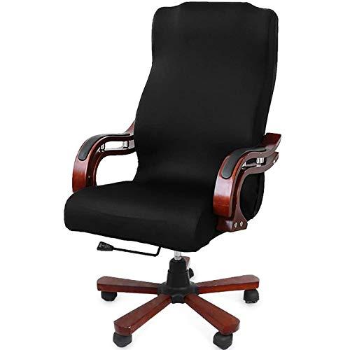 Pceewtyt BüRo - Rivestimento per sedia da computer, stile contemporaneo, stile contemporaneo, con schienale alto, colore: Grigio