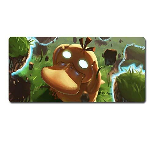 XXL Mousepad,Gaming Mauspad, Pokemon Psyduck Mauspad Anwenden Anime Mauspad Große Mauspad Gamer Große Maus Matte Computertisch Matte XXL Keyboard Pad (60 cm35cm) (Size : 70cm*30cm)
