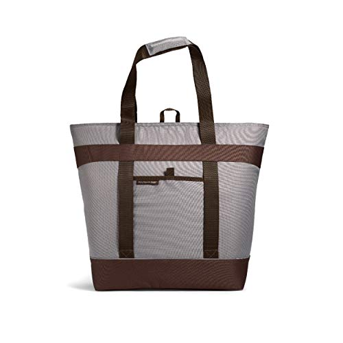 """Rachael Ray H Jumbo ChillOut Thermal Tote Bag for Grocery Shopping, Transport Cold or Hot Food, Extra-Large Capacity, Insulated, Reusable, 22.5"""" X 8"""" X 17.5"""", Sea Salt Grey"""