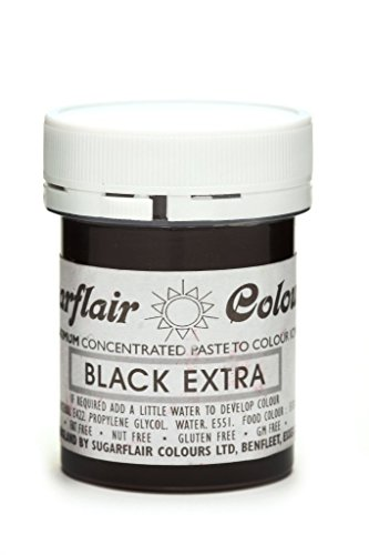 Sugarflair Maximum der hohen Konzentration 42G Konzentration Tiefschwarz Black Schwarz Extra