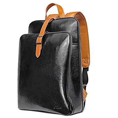 CLUCI Womens Backpack Purse Leather 15.6 Inch...