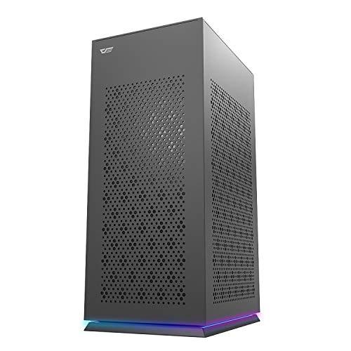 darkFlash DLH21 PCケース ミニタワー型 ITXケース 高冷却性能 高い互換性 黒 ゲーミングケース USB 3.0 Type-C インターフェース付き