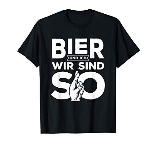 Bier & Ich Wir Sind So Party Lustiger Spruch T-Shirt