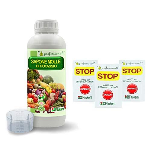 Fitokem - Sapone Molle potassico Biologico per orto e Frutta corroborante - 1 Litro