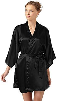 SlickBlue Womens Kimono Robe Satin Bridesmaid Lounge Sleepwear
