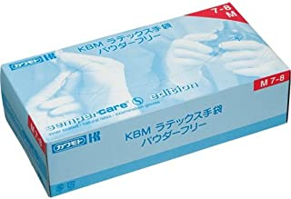 カワモト KBM ラテックス手袋 パウダーフリー M 1セット(300枚:100枚×3箱)