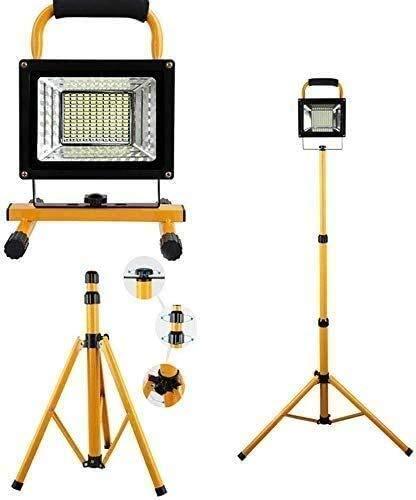 FWZJ 500W 130 LED Floodlight Trípode Soporte Control Remoto para Garaje Camping Lámpara de Trabajo inalámbrica Recargable portátil Iluminación Interior