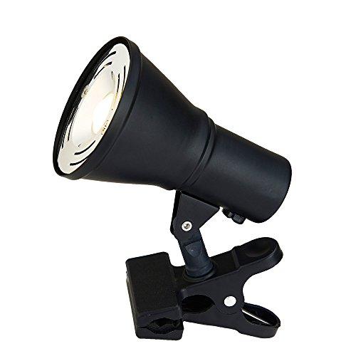Catalina Lighting 20038-002 Casual Adjustable LED Clip On Desk Lamp Spotlight, 4.75