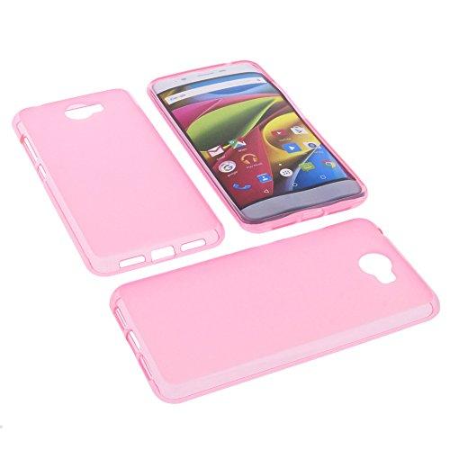 foto-kontor Tasche für Archos 50 Cobalt Gummi TPU Schutz Hülle Handytasche pink