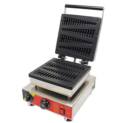 CGOLDENWALL NP-501 Gofrera Máquina de Gofre con Forma de Árbol de Navidad 4pcs Commercial Waffle Maker Eléctrica Antiadherente de Acero Inoxidable con Termostato Digital CE Certificatión 220V