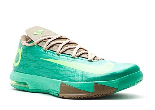Nike KD VI Hombres Baloncesto Entrenadores China Edition Bamboo 599424 301 Zapatillas Zapatos Kevin Durant, Verde (Gmm Verde/Flsh-lm), 42 EU