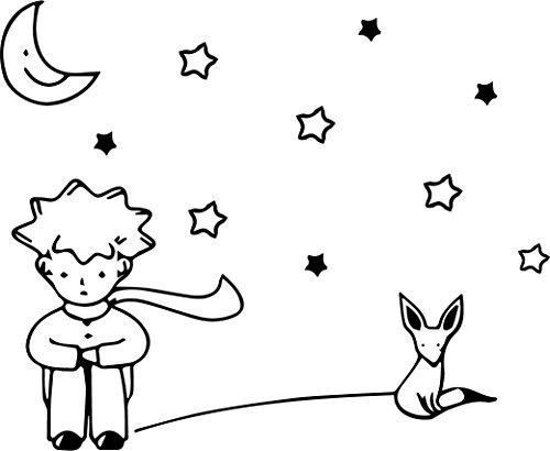 """The Little Prince - El Principito - Vinyl Wall Art Stickers - 23"""" x 28"""" - Unisex Childrens Bedroom Decals - Preschool and Kindergarten Kids Vinyl Wall Art"""