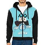 HelloMars Fashion Hoodie Dan-T-Dm Men's Zipper Pocket Jacket Warm Sweater Leisure Sport Coat Black