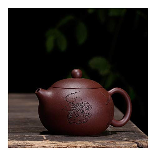 LEBAO Teapot Kung Fu Purple Clay tea sets Ore Purple Clay Pot Suit Beauties Lotus Lotus Hand-carving The Bird Beauty Money Maker (Color : Red)
