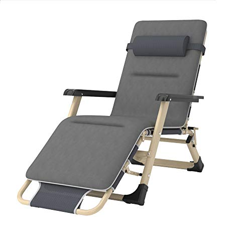 bureaustoelen LVZAIXI ligstoel slijtage en duurzaam Oxford, 3-bestanden aanpassing van de voet, stevige rugleuning, tuinmeubilair met een zachte hoofdsteun, plat en liggend