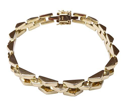 14 karaat geel gouden gourmette armband