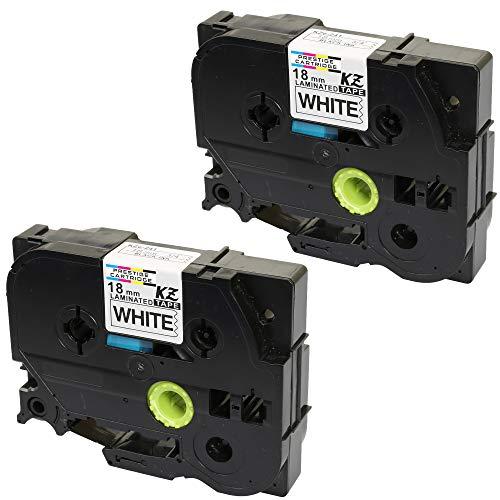 Prestige Cartridge 2 Kassetten TZe-241 TZ-241 schwarz auf weiß 18mm x 8m Schriftband kompatibel für Brother P-Touch PT-2030VP 2430PC 3600 9600 D400 D450VP D600VP E300VP E550WVP H300 H500 P700 P750W