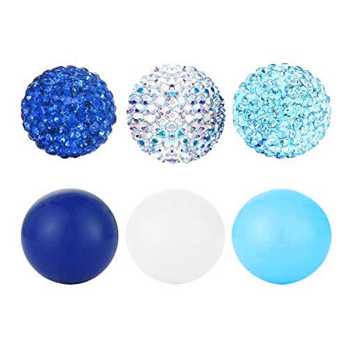 AKKi jewelry Damen Engels Klangkugel und Strasskugel 6er Set Angebot 14 mm in der Farbe für Hals-Kette