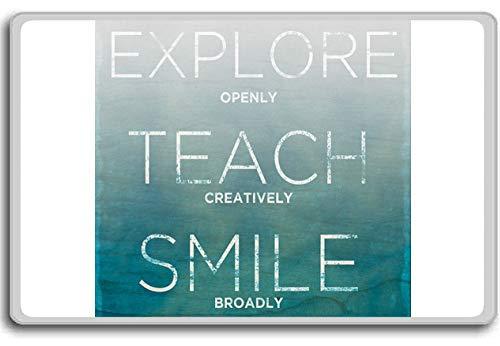 Ontdek openlijk leren creatief glimlach breed - motiverende citaten koelkast magneet