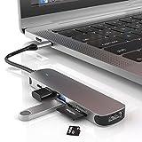 Hub USB C Hub 5 en 1 Tipo C, Adaptador USB C multipuerto, con Interfaz HDMI / USB2.0 / USB3.0 / TF/SD, Hub USB C Adecuado para MacBook Pro, iPad Pro y más Dispositivos Tipo C