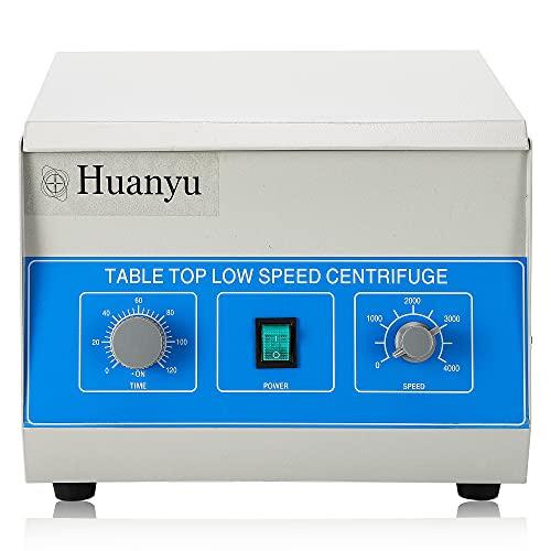 Huanyu Laborzentrifuge 8 * 50ml Zentrifuge 4000RPM Niedriggeschwindigkeits Zentrifugalmaschine für 50ml Reagenzgläser mit 0-120min Timer
