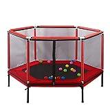 ZCZZ Hexagon Outdoor Trampolin Set für Kinder Erwachsene Sicherheitsgehäuse Net Bounce Spring...