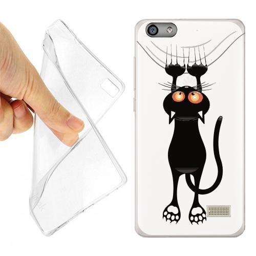 Custodia Cover Case Gatto GRAFFIO per Huawei G Play Mini Opaco