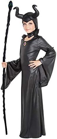 Disfraz Bruja Mal/éfica Ni/ña Talla Infantil Desde 3 a 12 a/ños 【Talla 3-4 a/ños】 Traje Cosplay Hada Bruja Fantas/ía para Fiestas Carnaval Halloween Cumplea/ños