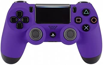 PS4 Dualshock Playstation 4 Wireless Controller Custom Soft Touch New Model JDM-040 (Purple)