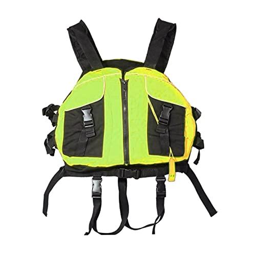 Hellery Chalecos Salvavidas Chaleco, Chaleco de natación para Adultos/niños, Pesca al Aire Libre Chaleco Salvavidas Chaleco de Kayak Chalecos Salvavidas - Verde Fluorescente