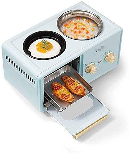 Sandwichmaker 304 Edelstahl Frühstücksmaschine, 220V 1350W Sandwichmaker, Toaster, Toaster, Braten und Schmoren Multifunktions-Frühstücksmaschine Blau,Brotmaschine Sandwichpresse