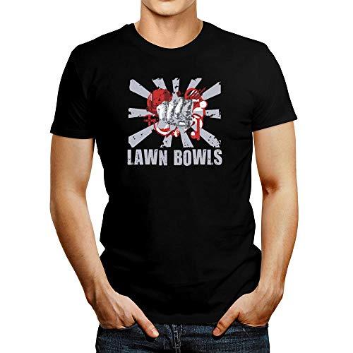 Idakoos Lawn Bowls fist T-Shirt - black - Medium