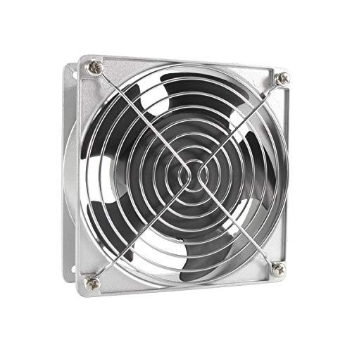 HG Power - Extractor de aire de ventilación, ventilador de tubo de escape de acero inoxidable para oficina, cuarto de baño, halle (diámetro: 120 mm)