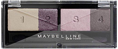 Maybelline Eyestudio Quattro Lidschatten Nr. 2 Vivid Plums, 4 optimal aufeinander abgestimmte Farben, für ein professionelles Schmink-Ergebnis, mit ultra-feinen, schimmernden Farbpigmenten, 5 g