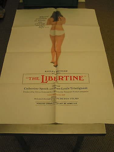 New color THE LIBERTINE New mail order ORIG. U.S. ONE SHEET CATHERINE MOVIE SPAAK POSTER