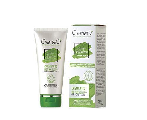Cremeo - Crema viso detox Anti-Pollution Vegan Ok con filtro solare, protettiva antiossidante idratante, linea antinquinamento detossinante e protettiva, capacità ml 75