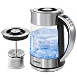 YISSVIC Electric Kettle Electric Tea Kettle with Temperature Control Removable Tea Infuser Keep Warm and Boil-Dry Protection Function BPA-Free Water Boiler