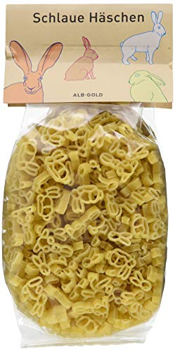 Alb-Gold AG Schlaue Häschen, Nudel in Hasen-Form als Pasta für Kinder (1 x 250 g)