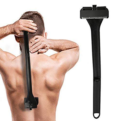 Indietro Rasoio, Capelli di alta qualità manuale per tutto il corpo Capelli pieghevoli manico pieghevole Rimuovi rasoio per la rasatura umida o secca senza dolore