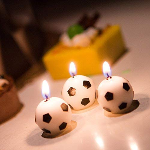 UgyDuky 6Pcs Soccer Ball Football Birthday Party Cake Candles for Kid Birthday Party Decoration