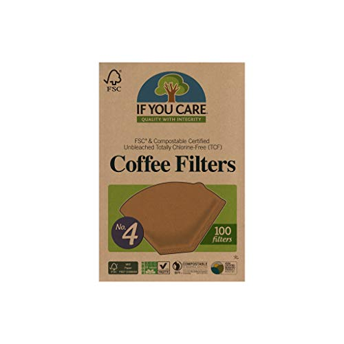 IF YOU CARE J25001 Coffee Filters, No. 4, 100 count.