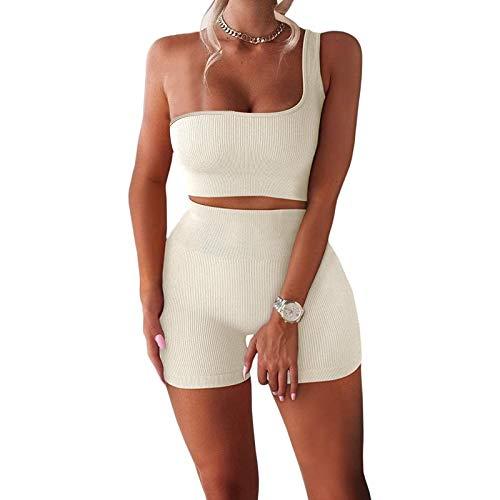 Shorts Sets Women 2 Piece Outfits Wedding Guest Outfits Two Piece Workout Outfits for Women Two Piece Outfits for Women Clubwear White